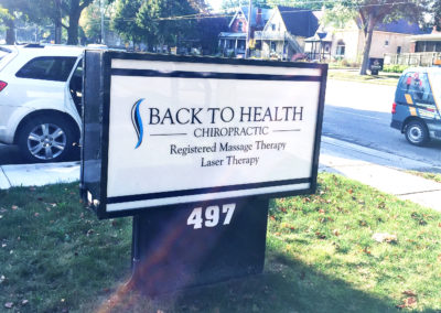 backto health sign
